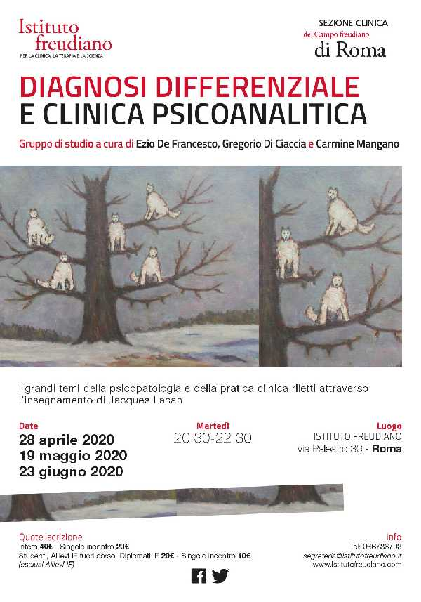 Diagnosi differenziale e clinica psicoanalitica