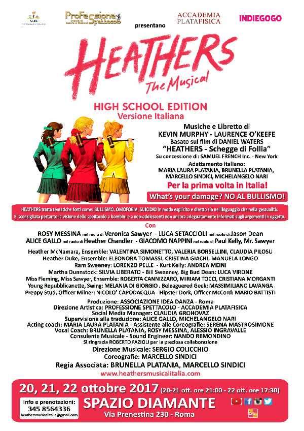 HEATHERS The Musical High School Edition Versione Italiana