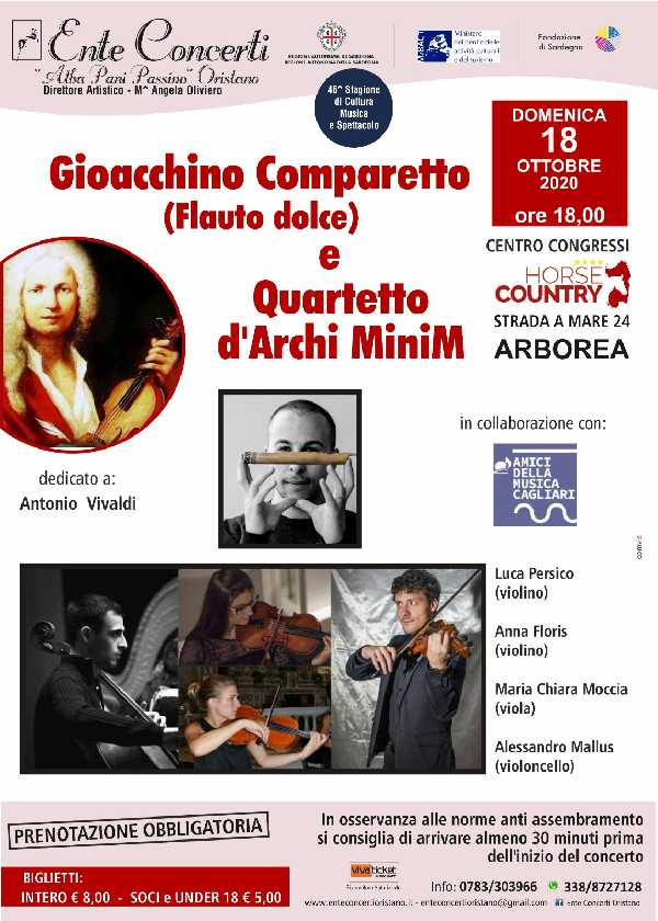 Gioacchino Comparetto (flauto dolce) e Quartetto d`archi MiniM