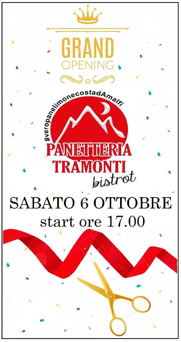 NEW OPENING PANETTERIA TRAMONTI BISTROT