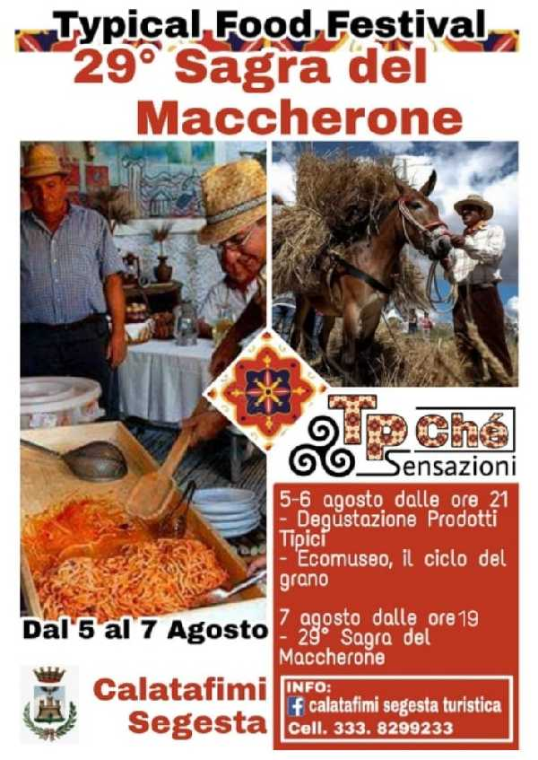 Sagra del Maccherone, Typical Food Festival dal 5 al 7 Agosto 2019