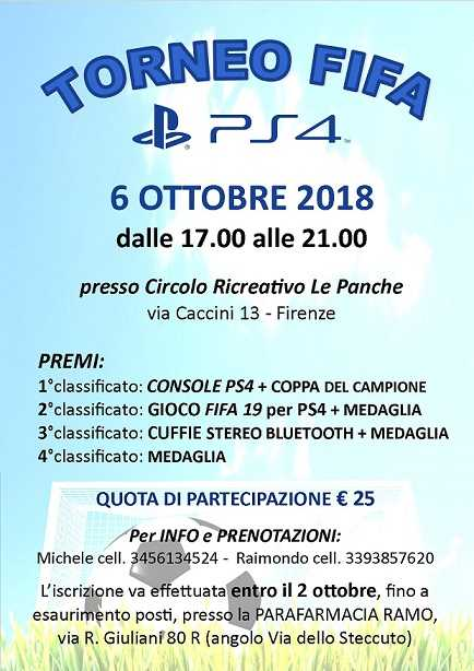 Torneo Fifa PS4 Firenze