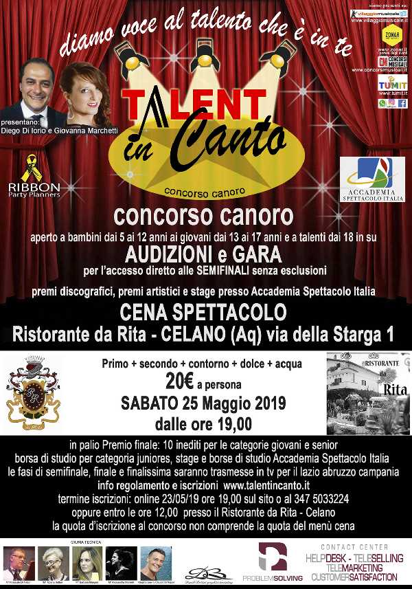 Celano (AQ) Talent in Canto